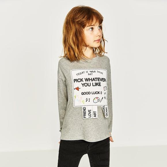 a858b787 NWT Zara Girl T-shirt